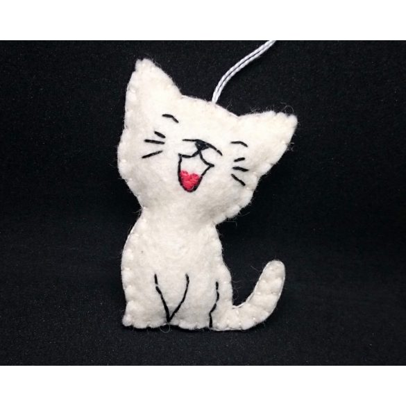 Laughing cat ornament